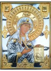 Храмовая икона Боголюбской иконы Божией Матери 36 х 48,5 см