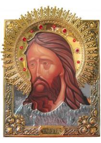 Храмовая икона святого Иоанна Предтечи и Крестителя большого размера 42 х 50 см
