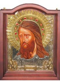 Большая храмовая икона святого Иоанна Предтечи и Крестителя 51,5 х 66,5 см