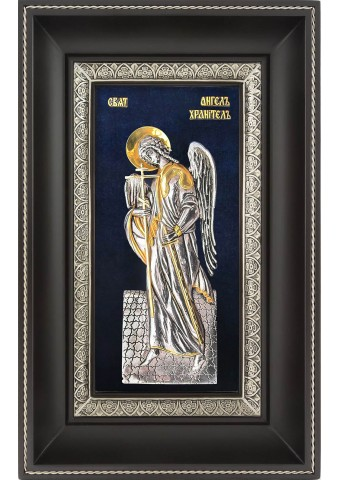 Ростовая икона Ангела-Хранителя в деревянной рамке 18,5 х 29 см