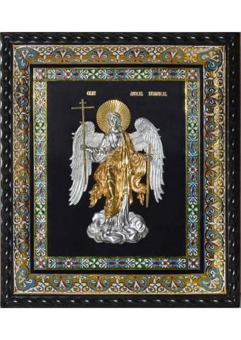 Икона Ангела-Хранителя под стеклом 39 х 45 см