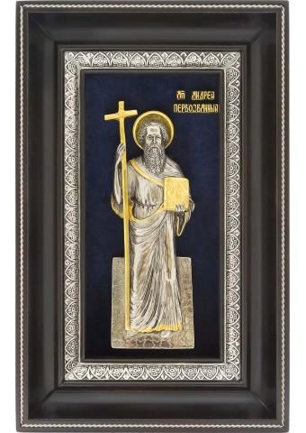 Икона Святой апостол Андрей Первозванный в деревянной рамке 29 х 18,5 см