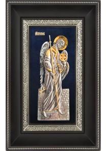 Ростовая икона Архангела Михаила в деревянной рамке 18,5 х 29 см