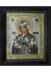 """Икона Божией Матери """"Умягчение злых сердец"""" под стеклом 42 х 49 см"""