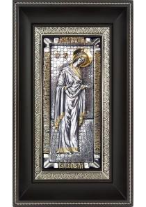 Икона Божией Матери «Заступница» на металлической подложке 17 х 28 см