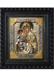 Писаная икона Божией Матери «Троеручица» под стеклом 29 х 33 см