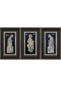 Иконы Деисус: Господь Вседержитель, Божья Матерь и Иоанн Креститель 18,5 х 29 см