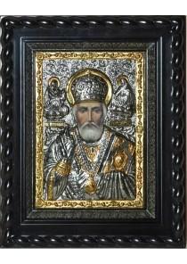 Икона святого Николая Угодника, Чудотворца под стеклом 26 х 32 см