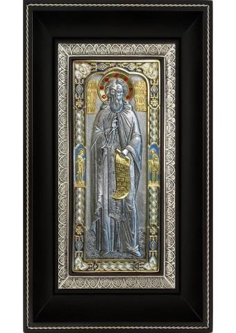 Икона преподобного Сергия Радонежского 17 х 27,5 см