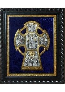 Икона Распятие Иисуса Христа на кресте (под стеклом) 33 х 39 см