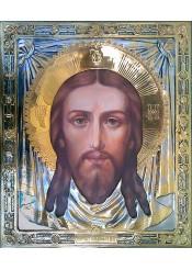 Большая храмовая икона Спас Нерукотворный 42 х 49 см