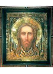 Храмовая икона Спас Нерукотворный большого размера 42 х 50 см