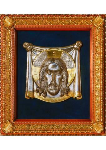 Большая храмовая икона Спас Нерукотворный 71 х 76 см