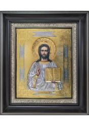 Икона Спас Вседержитель (Пантократор) позолотой 27 х 31 см