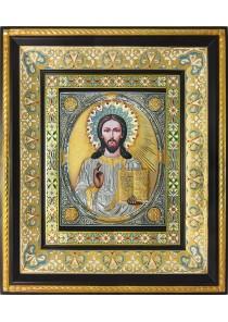 Икона Спас Вседержитель (Пантократор) с позолотой 35 х 41 см