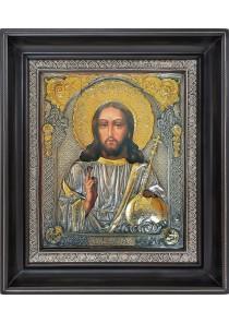 Икона Спасителя Иисуса Христа в деревянной рамке 31 х 36 см