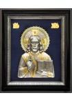 Икона Спасителя Господа Вседержителя серебром и золотом 34 х 40 см