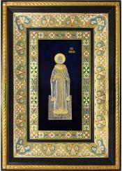 Ростовая икона страстотерпца царя-мученика Николая Второго 29 х 40,5 см