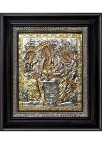 Икона «Святая Троица» в деревянной рамке 27 х 31 см