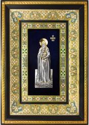 Ростовая икона святого Агапита Печерского 29 х 40,5 см