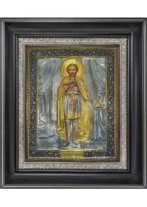 Икона Святого благоверного князя Александра Невского 26,5 х 31 см