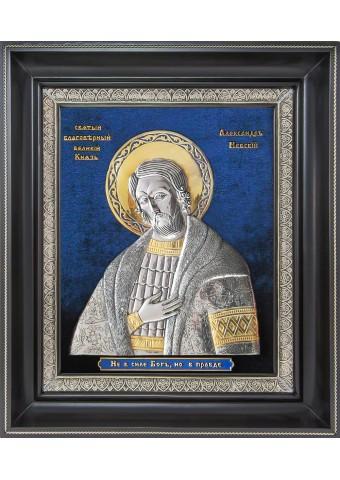 Икона Святого благоверного князя Александра Невского 32 х 38 см