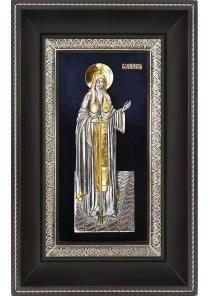 Икона святого Алексея Московского в деревянной рамке 18,5 х 29 см