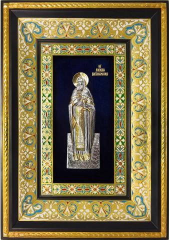 Ростовая икона святого Алексия Бортсурманского 29 х 40,5 см
