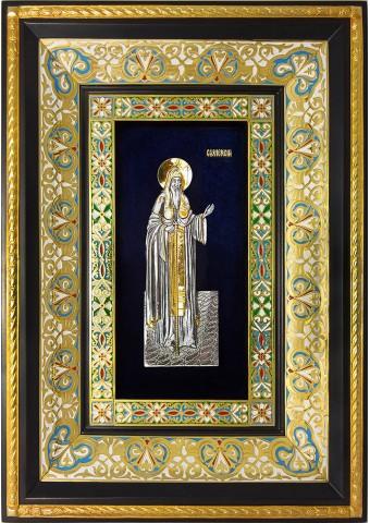 Ростовая икона святого Алексия Московского 29 х 40,5 см
