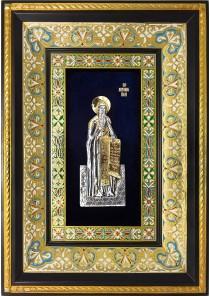 Ростовая икона святого Антония Печерского 29 х 40,5 см