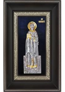 Икона святой апостол Матфей в деревянной рамке 18,5 х 29 см