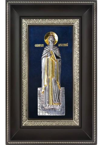 Икона святого Арсения Великого в деревянной рамке 18,5 х 29 см