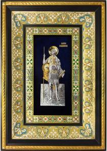 Ростовая икона святого Георгия Победоносца 29 х 40,5 см