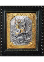 Икона святого великомученика Георгия Победоносца под стеклом 32 х 36 см