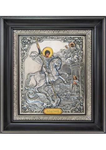 Икона святого великомученика Георгия Победоносца 35 х 39,5 см