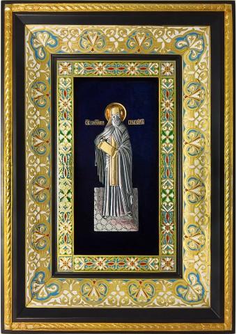 Ростовая икона святого Григория Константинопольского 29 х 40,5 см