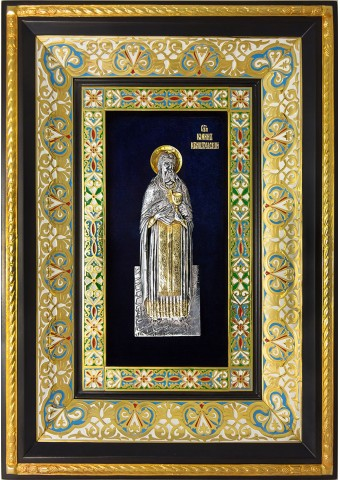 Ростовая икона святого праведного Иоанна Кронштадтского 29 х 40,5 см