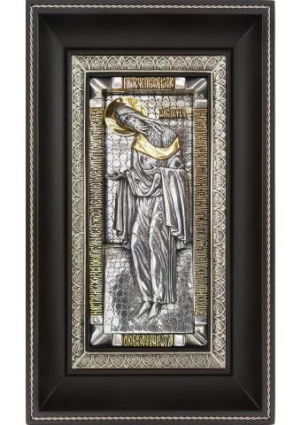 Икона святого Иоанна Предтечи на металлической подложке 17 х 28 см