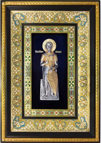 Ростовая икона святого мученика Виктора Дамасского 29 х 40,5 см