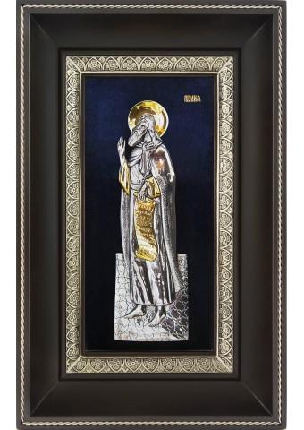 Икона святого пророка Илии в деревянной рамке 18,5 х 29 см