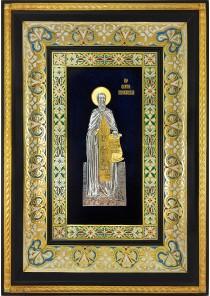 Ростовая икона святого Сергия Радонежского 29 х 40,5 см