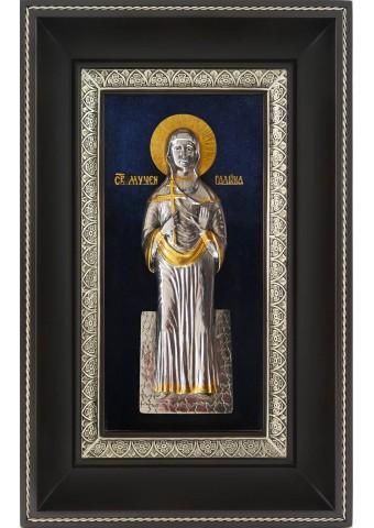Икона святой мученицы Галины Коринфской 18,5 х 29 см