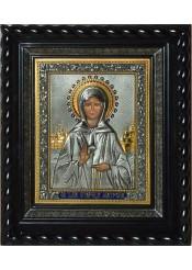 Писаная икона святой Матроны Московской под стеклом 28 х 32 см