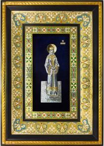 Ростовая икона святой мученицы Людмилы Чешской 29 х 40,5 см