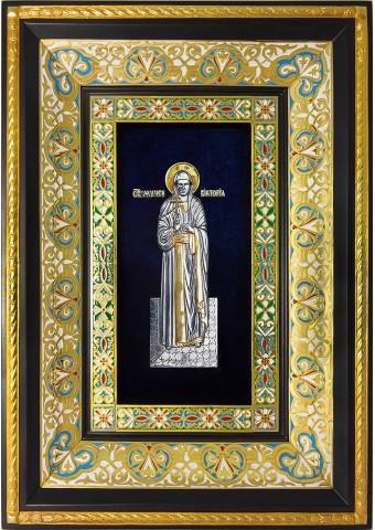 Ростовая икона святой мученицы Виктории (Ники) Коринфской 29 х 40,5 см