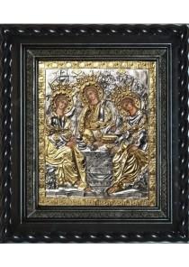 Икона «Святая Троица» под стеклом 28 х 32 см