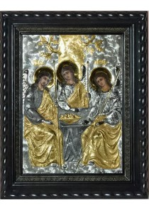 Икона «Святая Троица» под стеклом 33 х 41 см