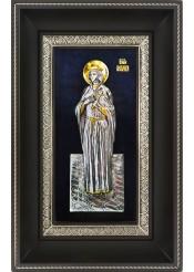 Икона святой великомученицы Варвары в деревянной рамке 18,5 х 29 см