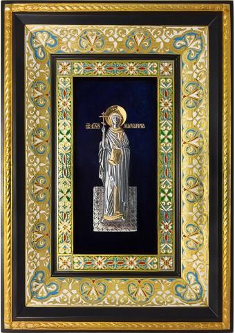 Ростовая икона святой великомученицы Маргариты (Марины) Антиохийской 29 х 40,5 см