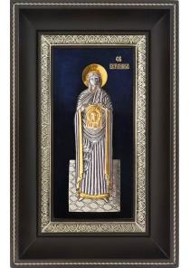 Икона святой Вероники Праведной в деревянной рамке 18,5 х 29 см